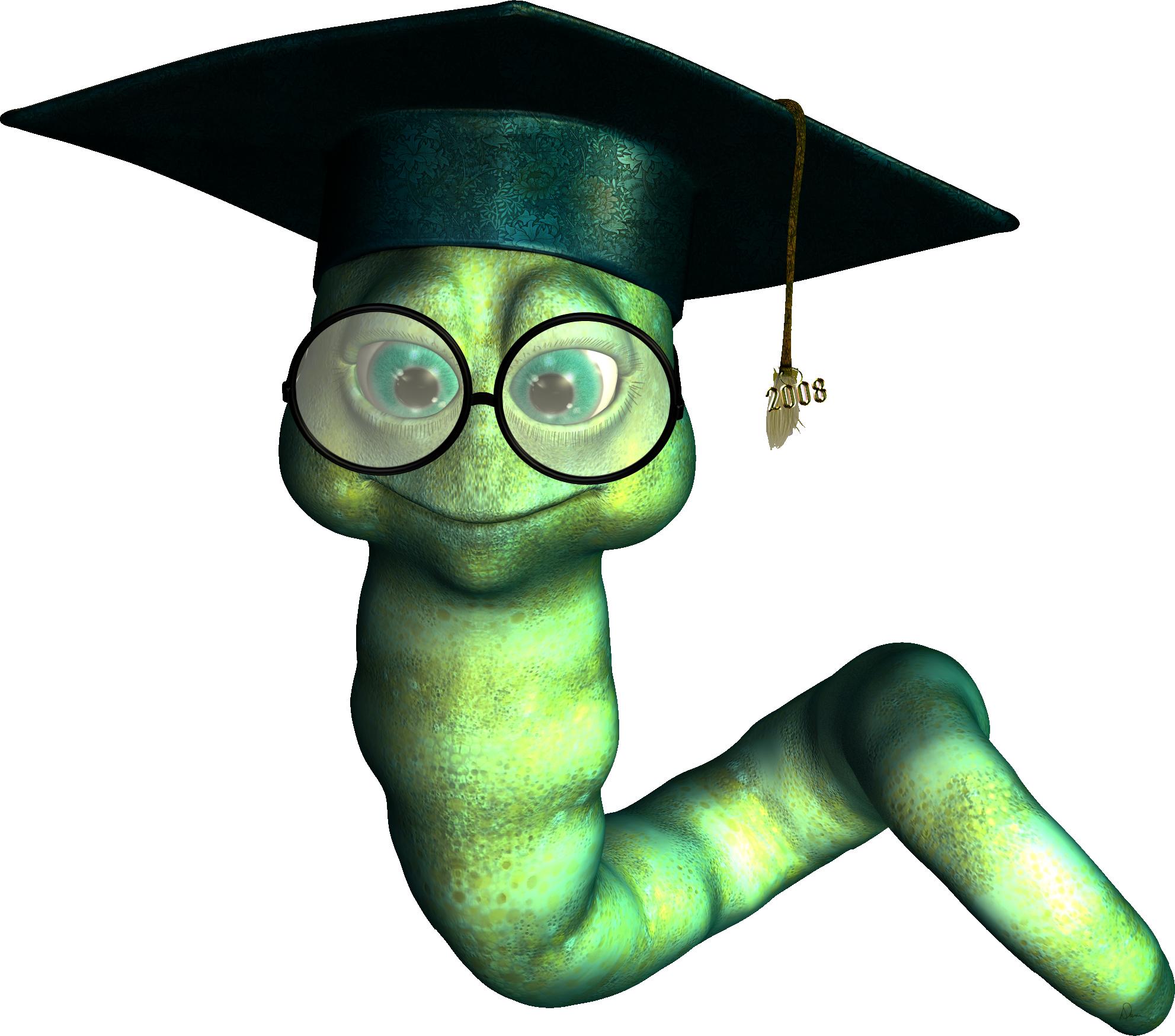 Graduate bookworm – clipart… | Dani Foster Herring